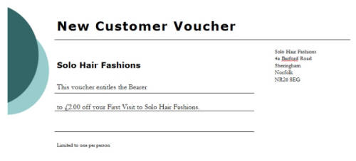 New Customer Voucher